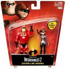"Disney Pixar Incredibles 2 Toy Figure Set Elastigirl & Mr. Incredible 4"" New"