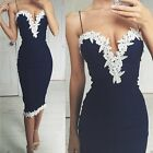 Summer Women's Bandage Bodycon Evening Sexy Party Cocktail Lace Short Mini Dress