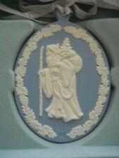 "Wedgewood Blue Jasperware Christmas Ornament ""Father Christmas"""