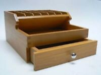 WOODEN PLIERS RACK WITH STORAGE DRAWERS JEWELLERS CRAFT ORGANIZER WOOD SECTIONS