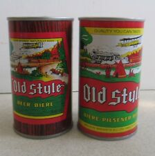 PAIR OF VINTAGE MOLSON BREWING OLD STYLE PILSNER 12 OZ EMPTY BEER CANS VANCOUVER