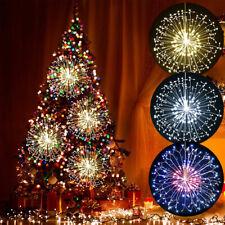 LED Guirlandes Lumineuses Feux d'Artifice à Piles + Télécommande Noël Décoration