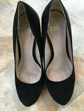 Debenham Faiith Cadbury Black High Heel Shoes, UK size 5, EU 38