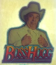 Original Boss Hogg Iron On Transfer The Dukes of Hazzard TV Show