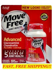 SCHIFF MOVE FREE ADVANCED 5 SIGNS OF JOINT HEALTH ~ 170 Tablets ~ Glucosamine