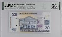SURINAME 20 DOLLARS 2004 P 159 GEM UNC PMG 66 EPQ