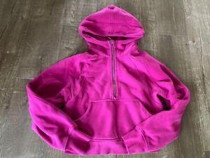 Lululemon Ripened Raspberry Scuba 1/2 zip hoodie