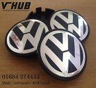 VW Alloy Wheel Centre Caps x4 65mm Golf MK5/6,Passat,Scirocco,Bora