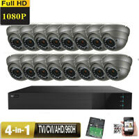 16CH TVI 1080P DVR Sony CMOS 4-in-1 2.6MP Varifocal Security Camera System 54