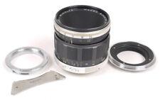 Minolta 50mm F3.5 Macro Rokkor QF Lens w/L39/Leica Mount/Adapter/Reverse Ring