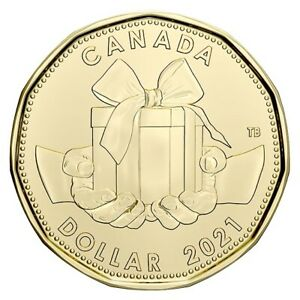 "2021 Canada $1 Special ""Birthday"" Design Loon Dollar ""Only From Set"""