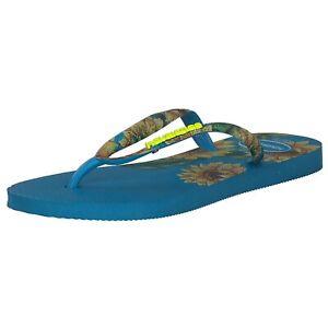 Havaianas Slim Sensation Damen Zehentrenner Sandale 4141852.0212 Blau Türkis Neu