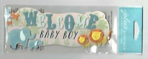 JOLEE'S BOUTIQUE WELCOME BABY BOY DIMENSIONAL STICKERS  BNIP
