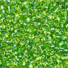 Miyuki Magatama 4mm Perline Sparkle verde foderato Chartreuse MA4-F44 24g (D35/4)