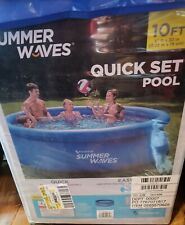 Summer waves 10'x30 quick set pool w/ filter pump