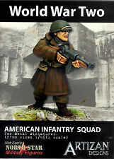 Artizan Designs 28mm Metal American Infantry Squad Miniatures (10)