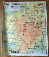 carte d'école - affiche scolaire 1960 Rossignol - jura et massif central