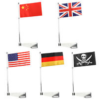 Luggage Rack Mount Flag Pole Fits Indian Chief Classic Dark Horse Motorcycle