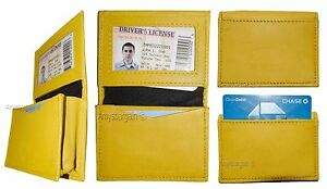 Lot of 4 women men's Leather Business Credit Card ID card case fifty card holder