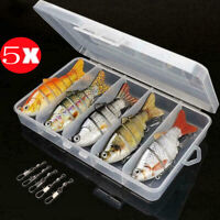 5pcs/Set Bionic Swimming Lure Suitable For All Kinds Of Jointed Bait Multi Fish