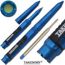 New Tactical Pen Takedown Self Defense Weapon Pens Blue
