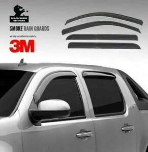Black Horse Rain Guards Tape On Smoke fit 2006-2009 Hummer H3