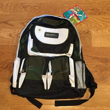 NEW Sport Gear Overland Camo Camouflage Green MultiPocket Gadget Backpack Bag