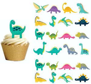 Dinosaurier eßbar Muffin Tortenaufleger Bild Party Deko Geburtstag Cartoon neu