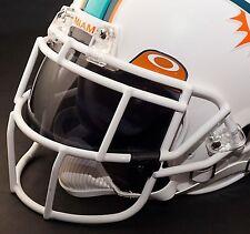 MIAMI DOLPHINS NFL Schutt EGOP Football Helmet Facemask/Faceguard (WHITE)