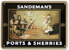 SANDEMANS FLAMENCO Small Vintage Metal Tin Pub Sign