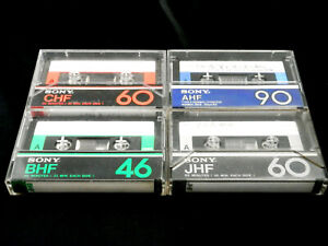 "Four(4) SONY cassette tape CHF BHF New-AHF JHF Japan ver Very good & ""Only-tape"""