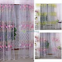 Modern Tulle Voile Balcony Window Curtain Drape Sheer Scarf Valances Home Decor