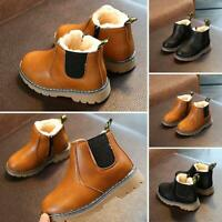 Boys Fashion Casual Non-slip Thicken Martin Boots Waterproof Toddler MSF