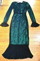$10,000 Ralph & Russo Green Sequin Embroidered Cocktail Dress IT 36 US 0 / FR 34