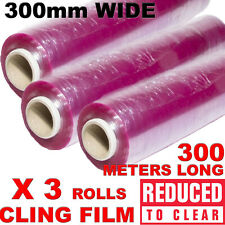 More details for cling film catering size keep food fresh plastic wrap kitchen 300mm x 35cm