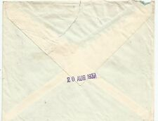 FALKLAND IS 1937  ENVELOPE TO UK FRANKED BY 1936 GV 1d DEEP RED CAT FROM £280