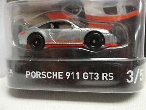 Hot Wheels PORSCHE 911 GT3 RS Silver & Red w/RR FORZA MOTORSPORT