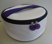THIERRY MUGLER Top Handle Purple Makeup Cosmetics Bag, Large Size, Brand NEW!!