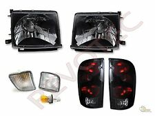 98 99 00 Toyota Tacoma 4WD Black Headlights Front Signal + Tail Lights Lamps