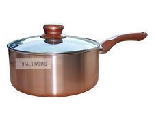 NEW Pro Cermalon Copper Pan Ceramic Induction Non Stick 20cm SAUCEPAN & LID
