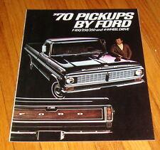 Original 1970 Ford Pickup Sales Brochure F-100 F-250 F-350 Ranger Truck