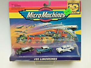 MICRO MACHINES 1997 #22 LIMOUSINES CADILLAC LINCOLN NEW
