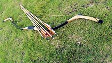 Chinese Handmade Mongolian longbow 20# -60# Achery recurve bow+6 wooden arrow