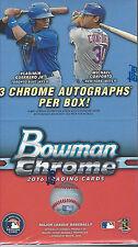 2016 BOWMAN CHROME BASEBALL FACTORY SEAL VENDING HOBBY BOX