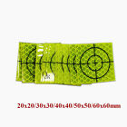 100pcs Fluorescent Green Reflector Sheet Reflective Tape Target All Size