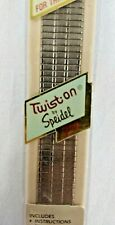 R Made Usa Silver Tone Flex Link 20mm Speidel Watch Band Vintage 90's Nos Men 34