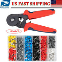 Crimp Tool Kit Ferrule Crimper Plier Wire Stripper Terminal Wire Home Tool Set