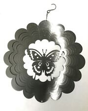 Windsparkles stainless steel wind spinner classic Silver,Butterfly,Vintage Fun
