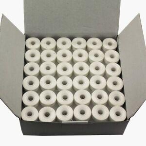Cutex™ L-Size White Polyester Prewound Embroidery Bobbins - 144/Pk
