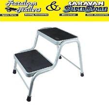 Double dual caravan step Light Weight steel motorhome stool RV camper ACC566
